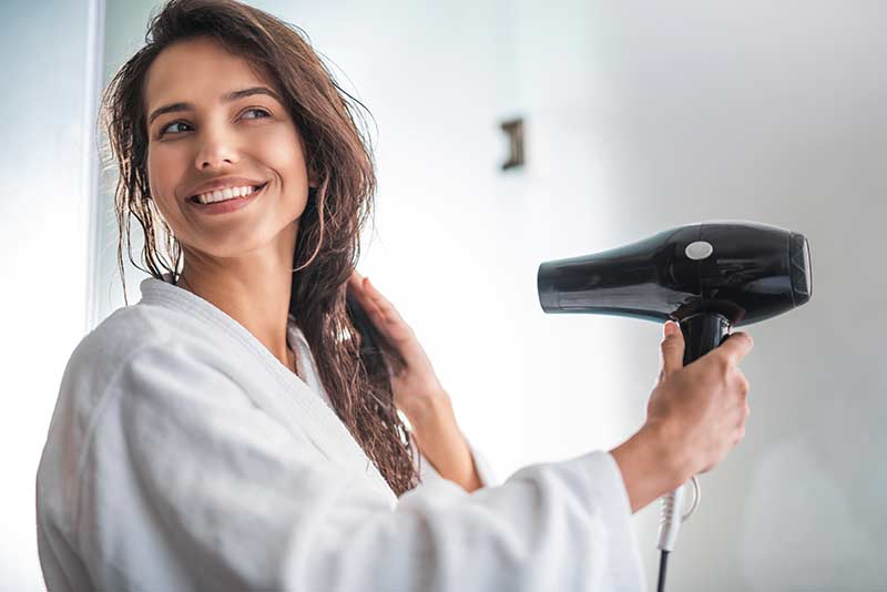 Dry your hair on a low setting