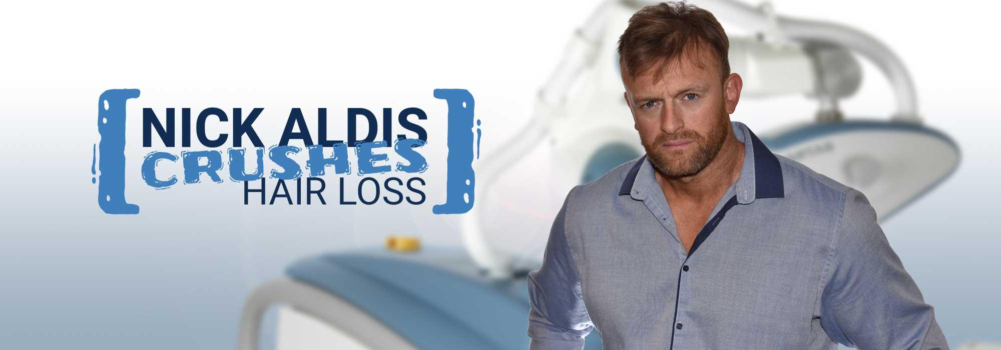 Nick Aldis Gets a Hair Transplant